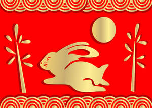 Yr of the Rabbit gold and red