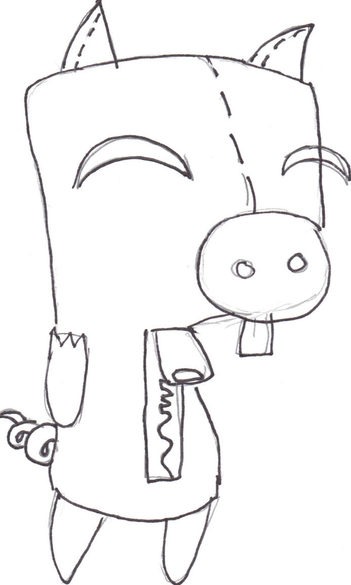 gir and piggy coloring pages - photo#32