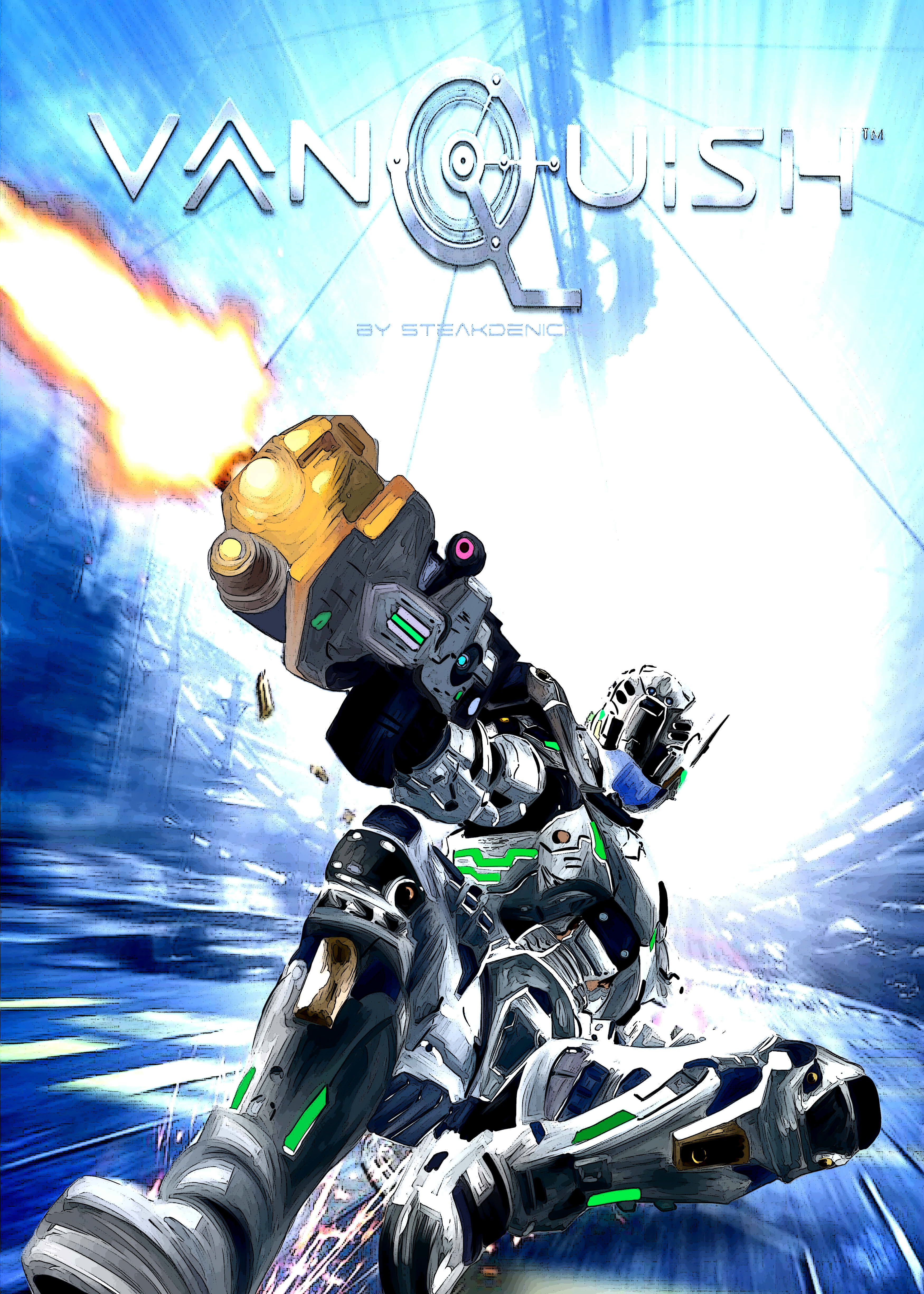 vanquish game cover. vanquish cover by victor125 vanquish game a