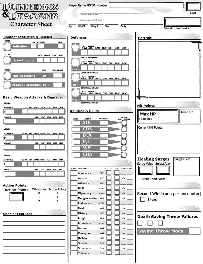 best free pdf d&d 5e character sheets