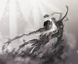 Valkyria embrace by FaErika
