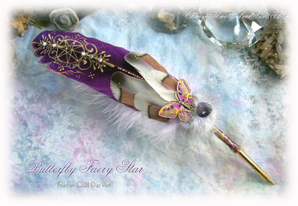 BUTTERFLY FAERY STAR Quill Pen by ChaeyAhne
