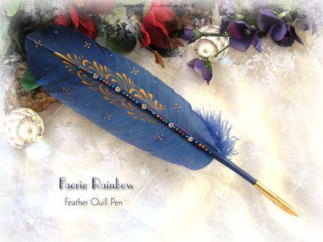 FAERIE RAINBOW Feather Pen