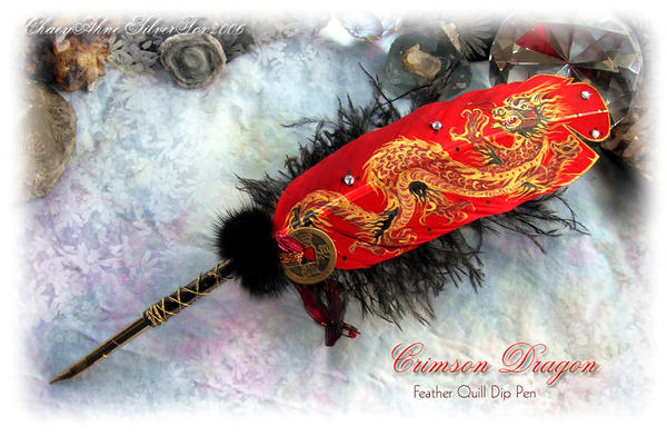 CRISMON DRAGON Feather  Pen by ChaeyAhne