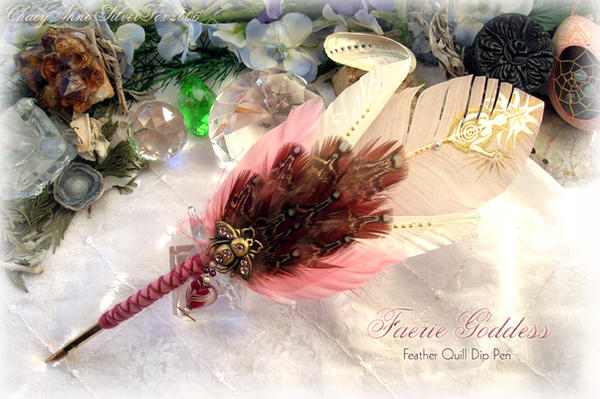 FAERIE GODDESS Feather Pen by ChaeyAhne