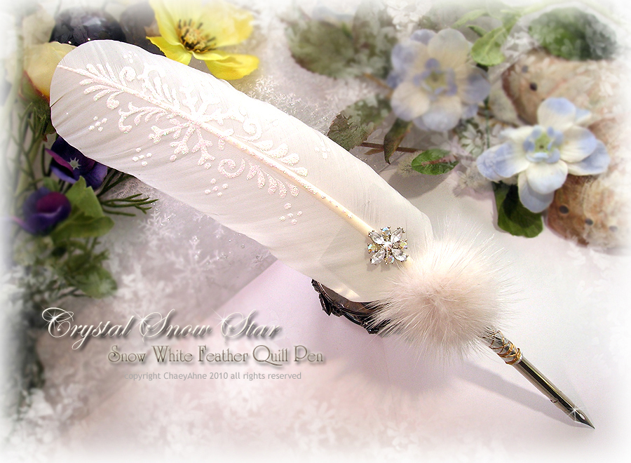 SNOWSTAR Feather Quill Pen by ChaeyAhne