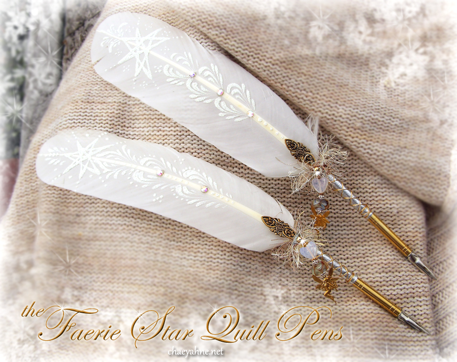 Faerie Star Quill Pens by ChaeyAhne