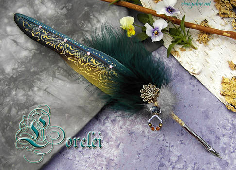 The LORELEI ... Feather Quill Pen by Chaey