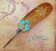 The 4 WINDS Elemental Feather Quill Pen