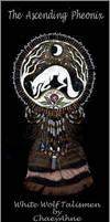Beaded White Wolf Talisman