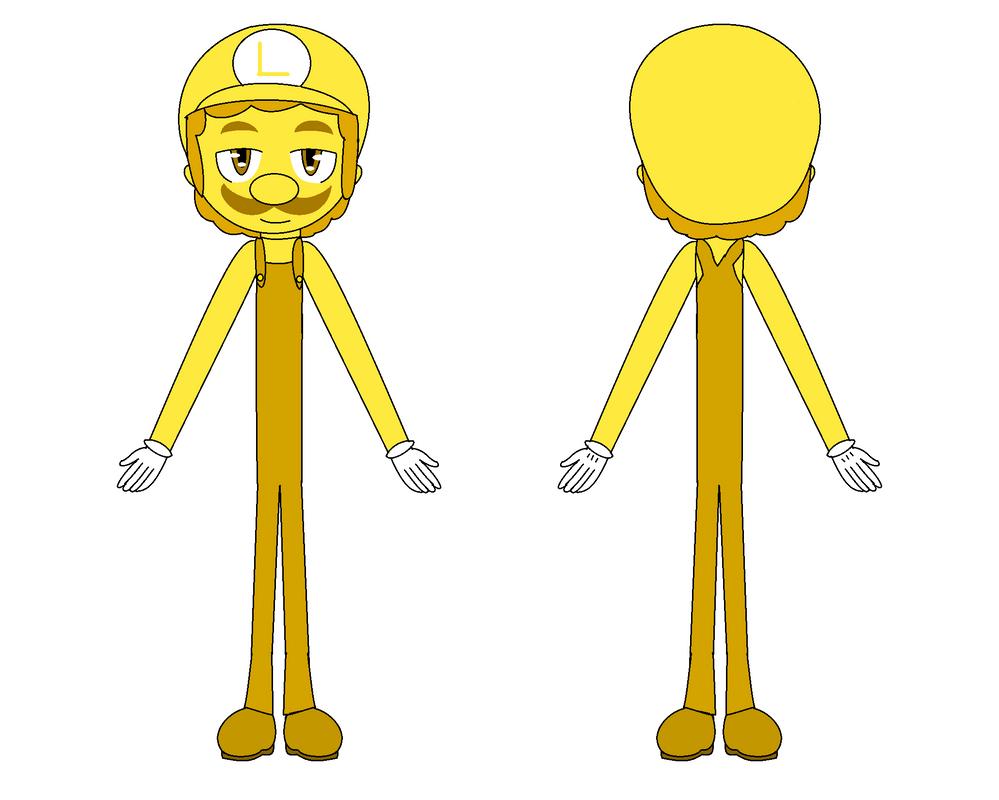 Luigi - Golden - concept personaggio by FJesseMCSM