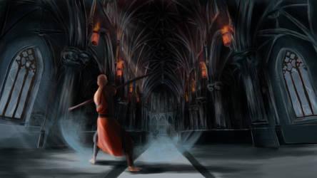 Monk in the cathedral (Diablo 3 Fanart)