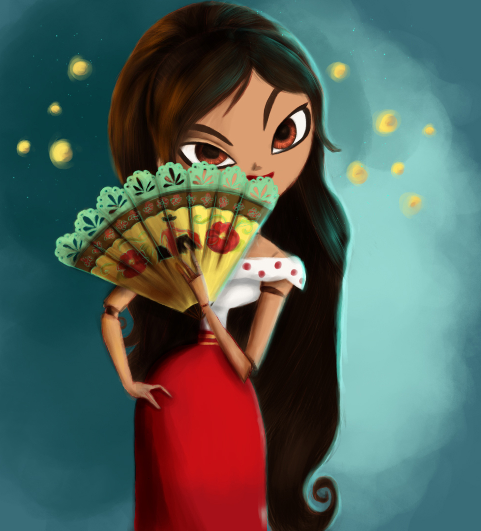 how to draw maria from the book of life