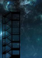 Far away Tower - Anime / Visual Novel Background by TamagochiKun