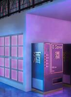 The Asakura Street - 3am Hotel Elevator by TamagochiKun
