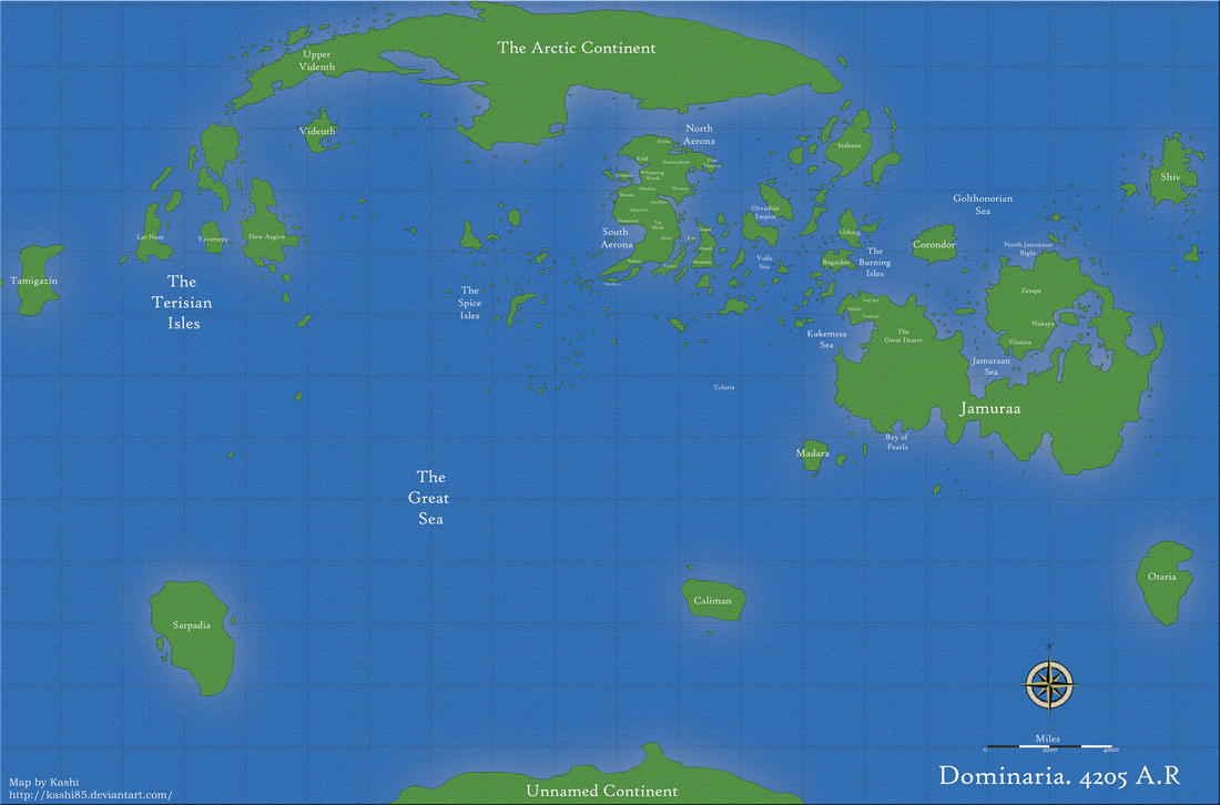 MtG: Map of Dominaria by Kashi85
