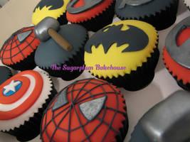 Marvel/DC/Comic Cupcakes by SugarplumB