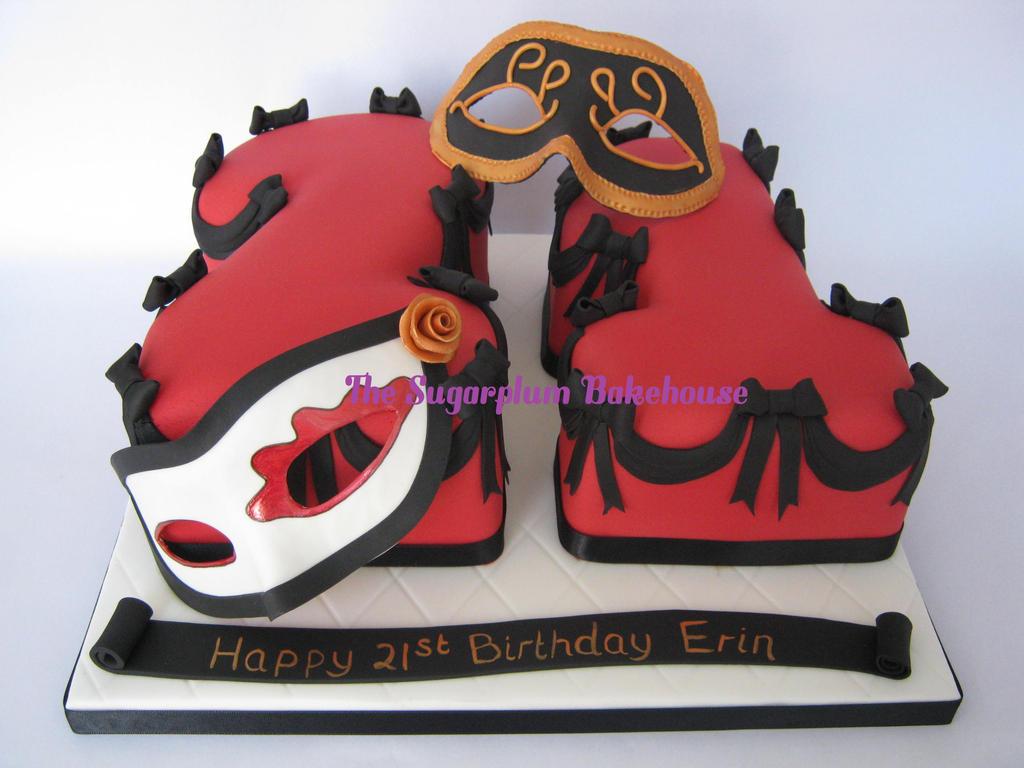 Red And Black Masquerade 21st Birthday Cake By Sugarplumb On Deviantart