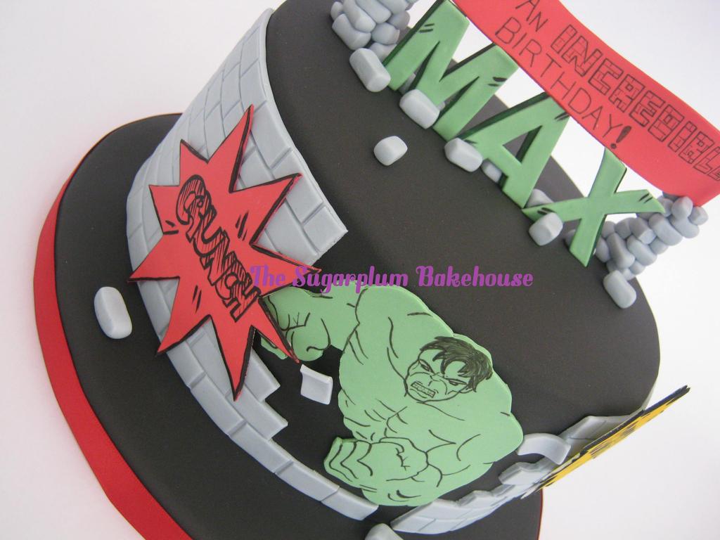 Incredible Hulk Birthday Cake By Sugarplumb On Deviantart