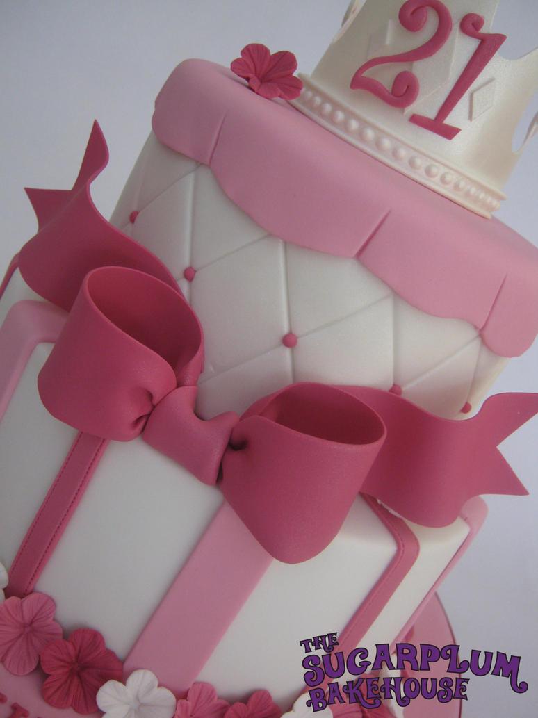 2 Tier Girly Princess 21st Birthday Cake By Sugarplumb On Deviantart