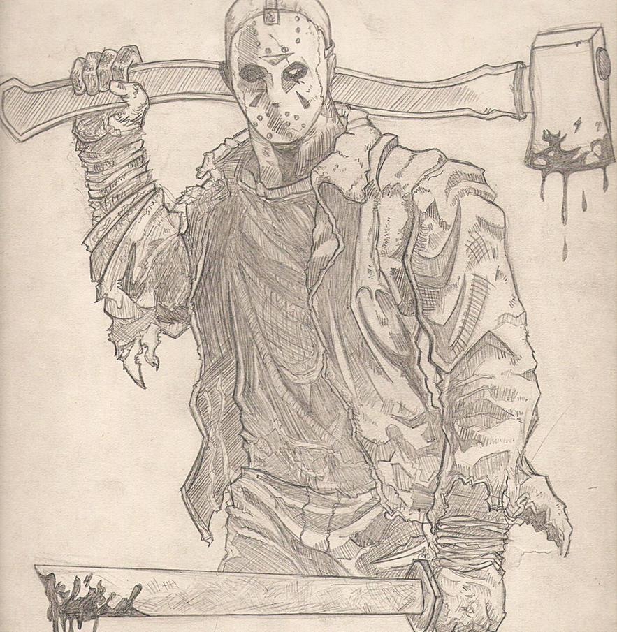 Jason Voorhees Sketch by LucasConceptArt on DeviantArt