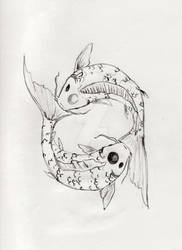 Pisces Koi Tattoo Design