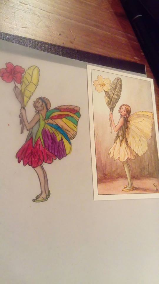 Flower Fairy Postcard by RosieDesign