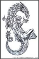 Dragon Tattoo Design by StriderDen