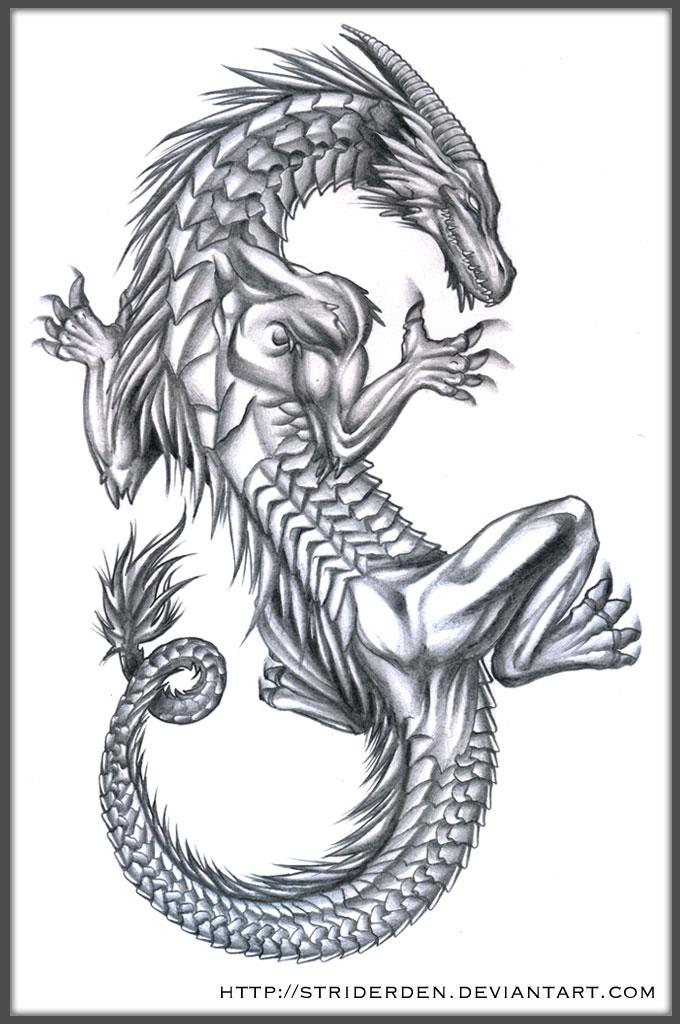 dragon tattoo design by striderden on deviantart. Black Bedroom Furniture Sets. Home Design Ideas