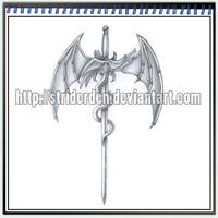 Tattoo Design 043 - Sword by StriderDen