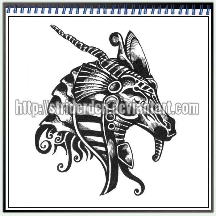 tattoo design 049 khnum by striderden on deviantart. Black Bedroom Furniture Sets. Home Design Ideas