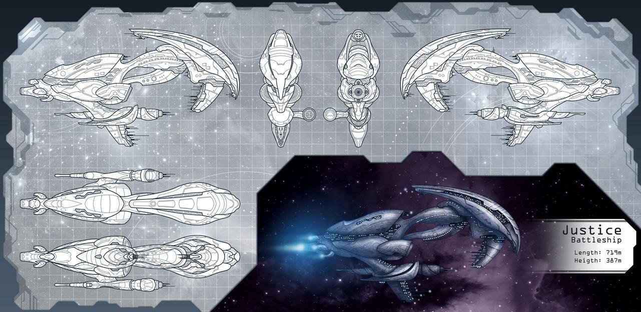 Justice BattleShip by StriderDen