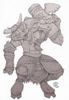 Tauren Sketch Test by StriderDen