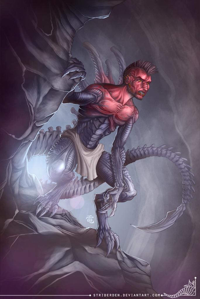 Pureblood Xenomorph Hybrid Commission by StriderDen