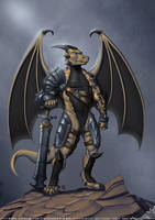 Rithe the Dragon Commission by StriderDen