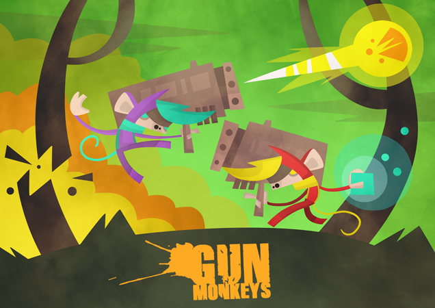 GunMonkeys Menu illustration. A4man by A4man
