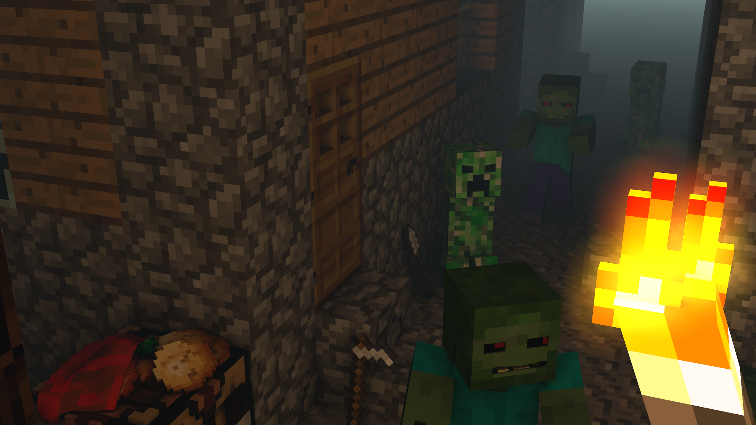 The gallery for --> Minecraft 2560x1440 Channel Art