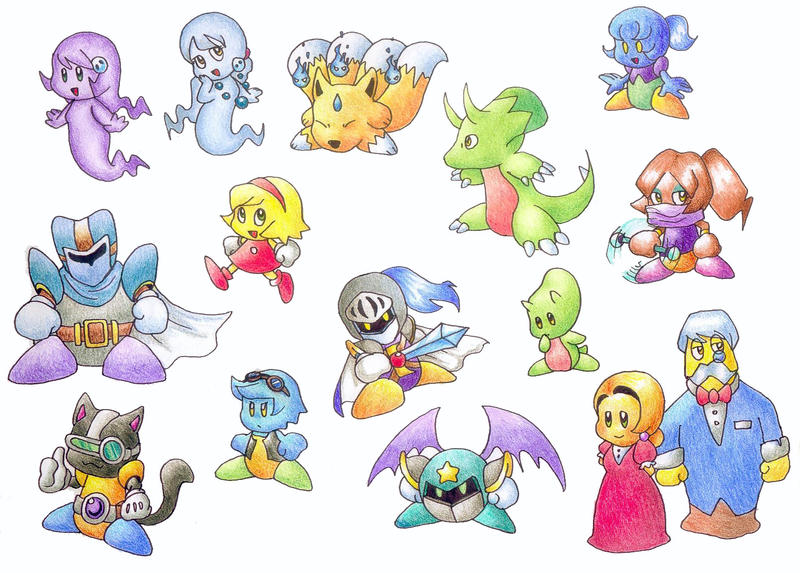My characters from Kirby by gerugeon on DeviantArt
