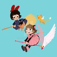 Kiki and Sakura