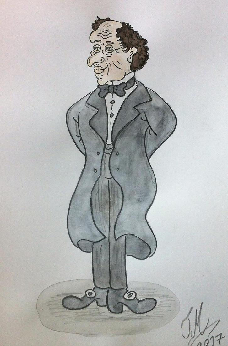 hans christian andersen by drawingcount on deviantart