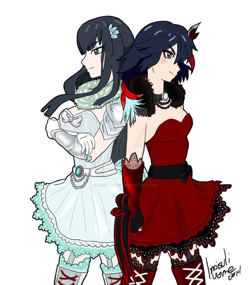 Ryuko and Satsuki: RWBY twins