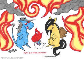 Helado De Unicornio #6 (final): Burn Baby Burn by noisulivone