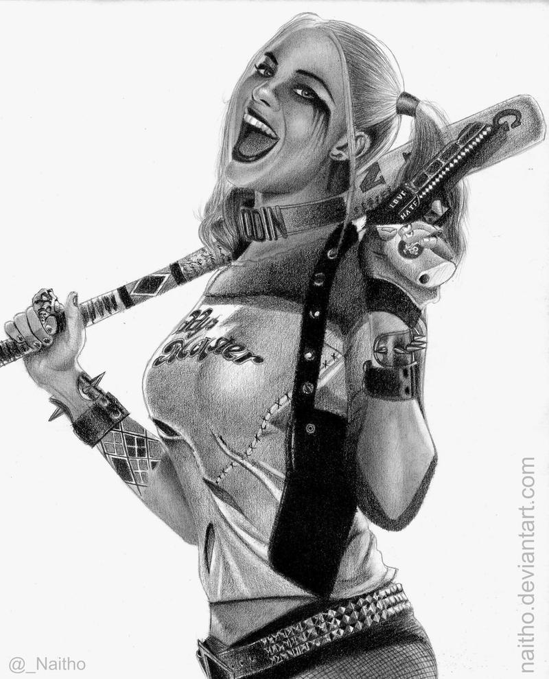 Harley Quinn Margot Robbie Drawing
