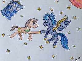 Trotting though space by Timelord909