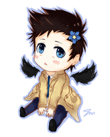 (Transparent) Chibi Castiel by jessickaaaa