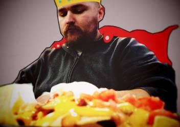 King nacho, ruler of all things cheesy! by Blackhorseofcthulhu