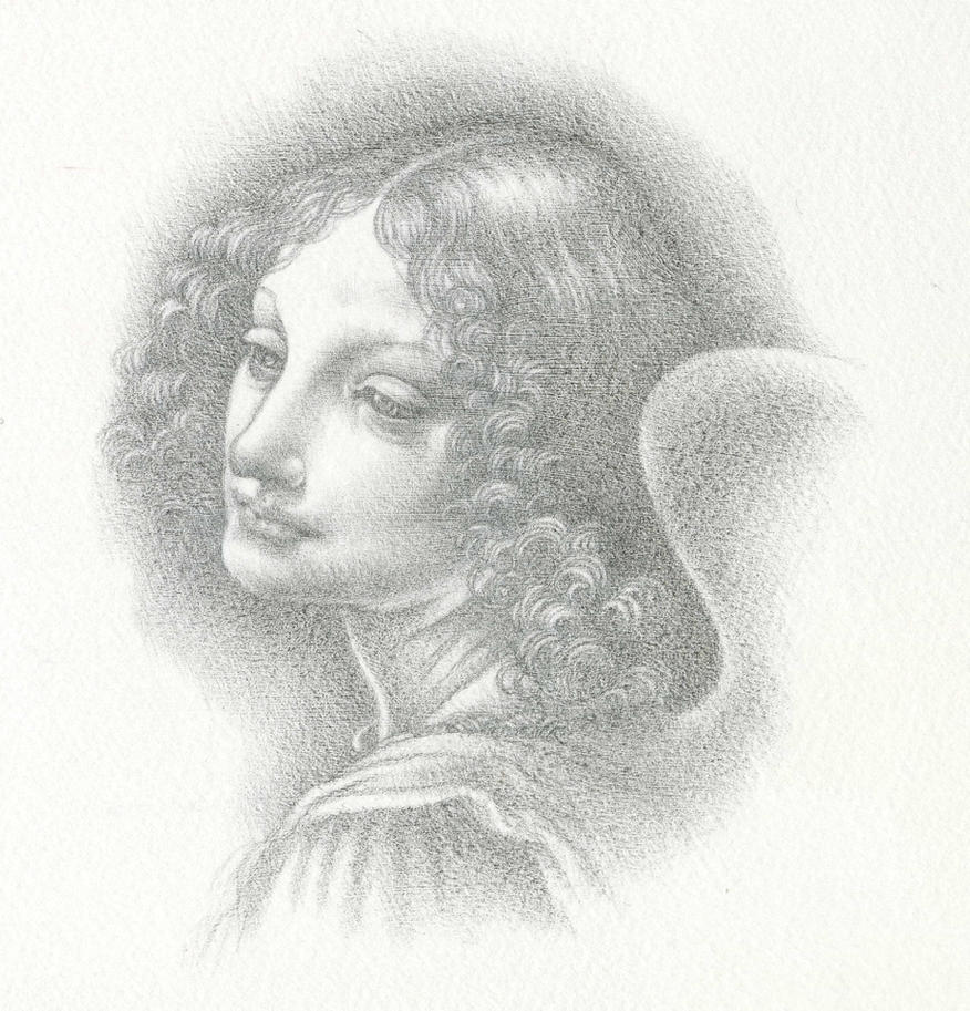 Leonardo's Angel in Silverpoint by Himmapaan