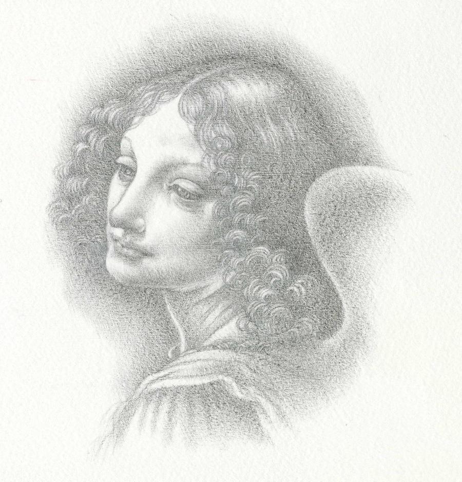 Leonardo's Angel in Silverpoint by Himmapaan