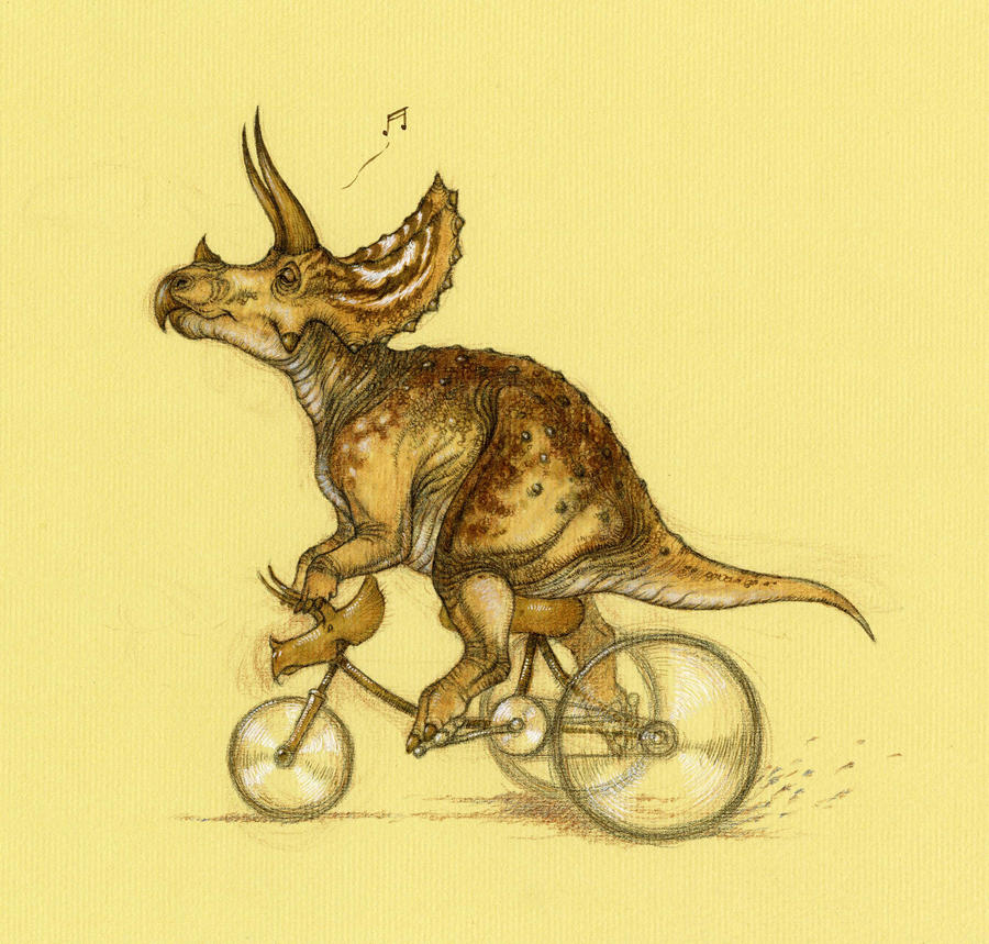 Tricycling Triceratops by Himmapaan