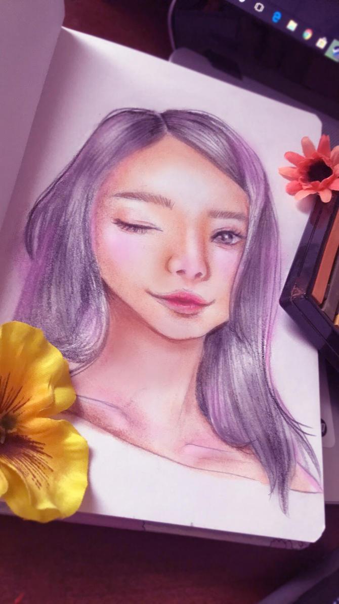 Starting pastels by Nekomimi-Chan00